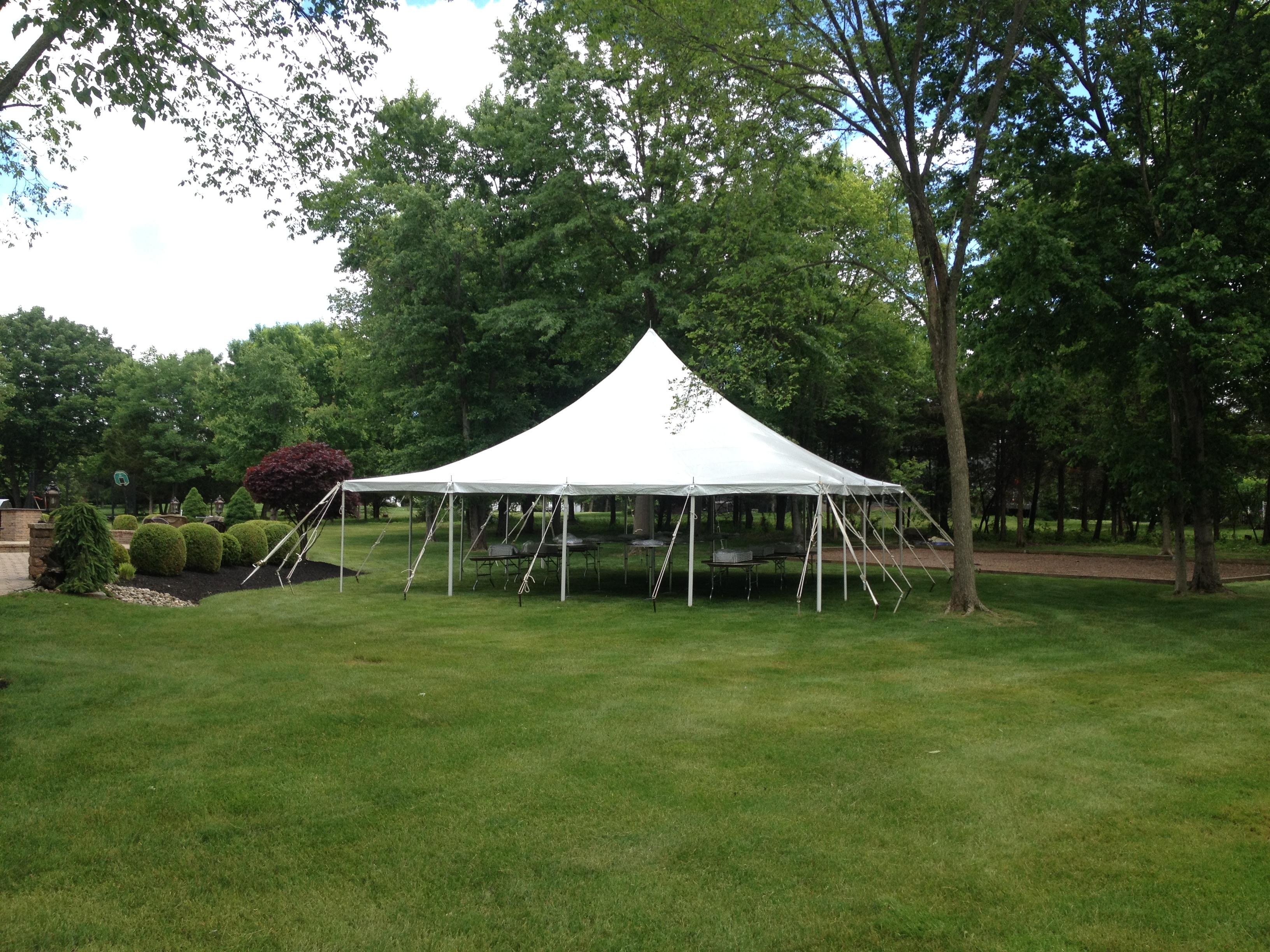 30 x 30 High Peak Pole Tent & Central Jersey Tent Rentals - Photos